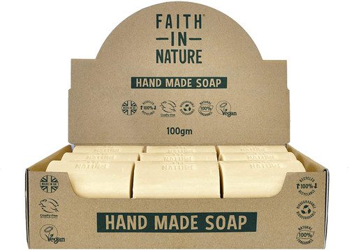 Faith in Nature Natural Hand Soap Bar-Fragrance Free