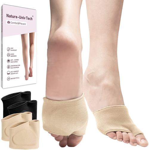 Nature-Univ Pain Relief Flexible Compression Metatarsal Anti Slip Pads -2 Pairs