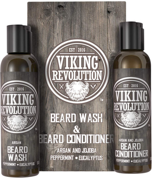 Viking Revolution Deeply Cleans and Nourishes Beard Wash and Conditioner Set
