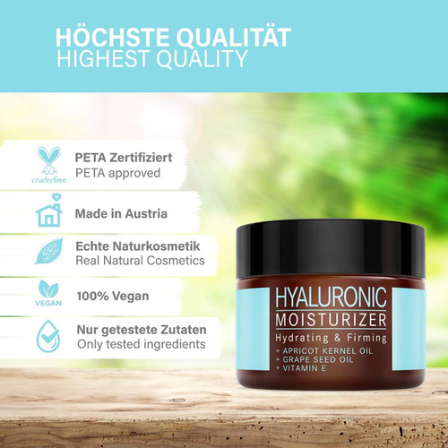 Hyaluron Moisturizer with apricot kernel oil and vitamin E-50ml