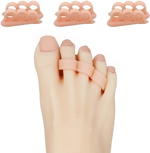 Zinyakon Overlapping Toe Gel Super Comfortable Spacers - 12 pieces