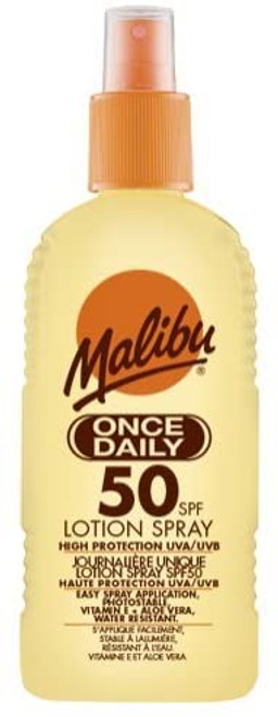 Malibu Once Daily Lotion Spray with SPF50-200 ml