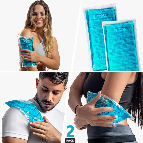 Medcosa Pain Relief Large Flexible Rectangular Sport Ice Pack