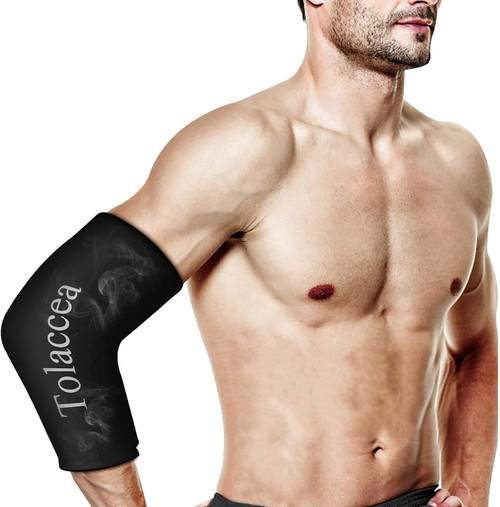 Tolaccea Hot and Cold Therapy Flexible Cold Therapy Sleeve - Black