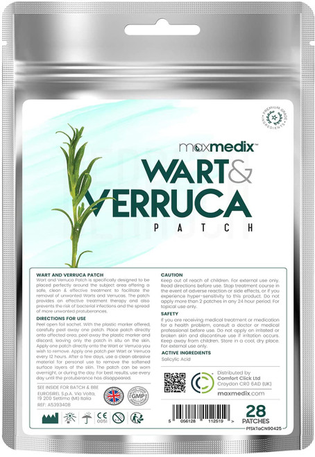 MaxMedix Wart and Verruca Remover Hygienic Patches - 28 Patches