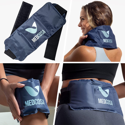 Medcosa Flexible Sport Ice Pack with Adjustable Velcro Straps