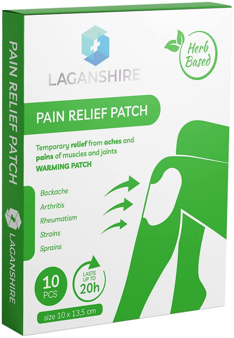 Laganshire Herbal Based Pain Relief Knee Patches - 10pcs