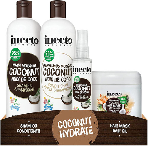 Inecto Shampoo Conditioner Hair Oil and Mask Set