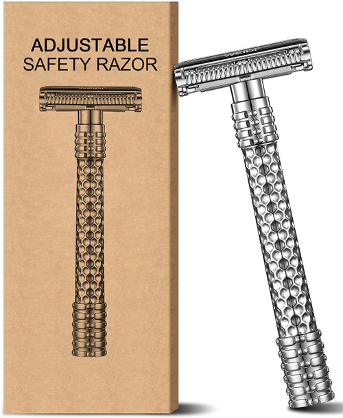 Adjustable Stepless Design Classic Butterfly Metal Double Edge Razor
