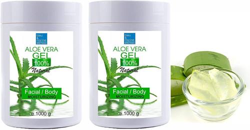 bleu and marine Aloe Vera Moisturizing Facial and Body Gel -Pack of 2