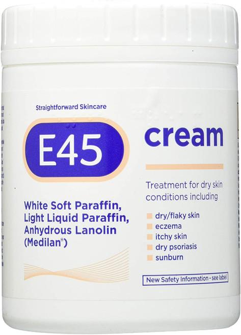 E45 Dry Skin Soothing Moisturiser Cream For body and face - 500g