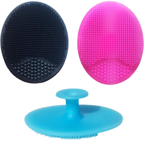 Soft Silicone Multifunctional Face Scrubbers Exfoliator Brush - Small-3pcs
