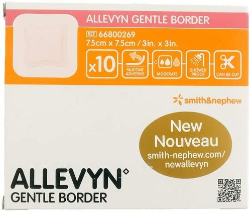 New Allevyn Gentle Border Conformable Dressing - 7.5cm x 7.5cm