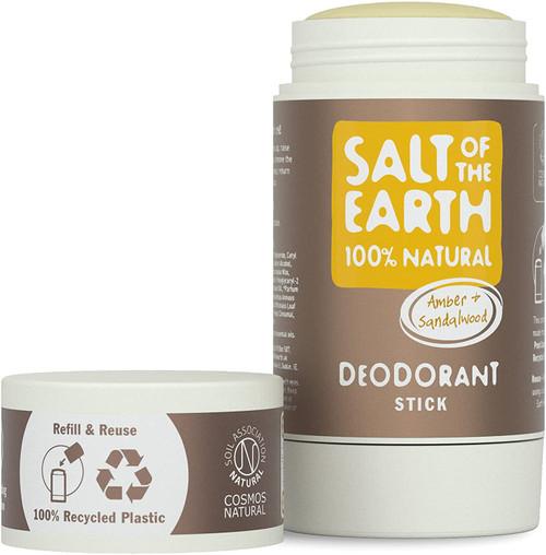 Salt of the Earth Fresh Natural Amber and Sandalwood Deodorant Stick - 84g