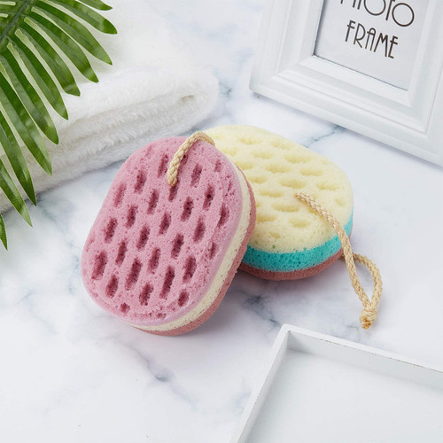 Soft Bath Sponge Gentle Soothing Body Sponge Oval Shape-5 Pcs