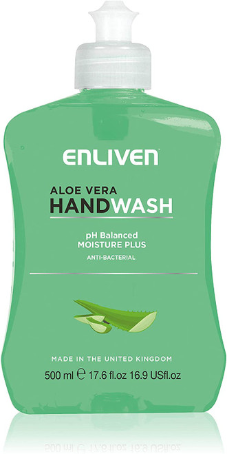 Enliven Anti-Bacterial Aloe Vera Hand Wash-Pack of 24