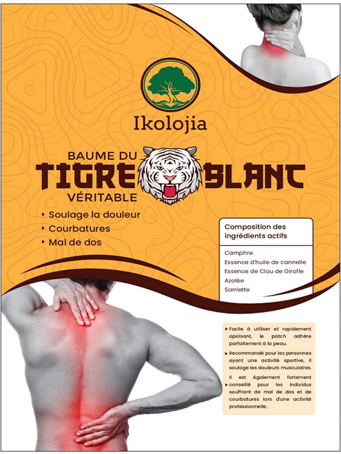 Tiger Muscles Pain Relief and Relaxation Back Balm Plaster Patch - 16pcs