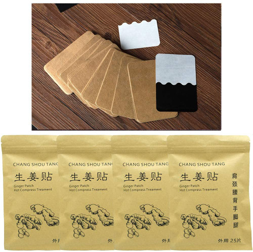 Chang Shou Pain Relief Ginger Heating Foot Patches - 100pcs