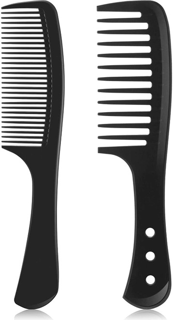 Heat resistant Wide Tooth Detangling Styling Combs - 2 Pieces