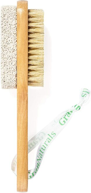 Foot Brush and Pumice Stone Dual Sided Tool with Handle