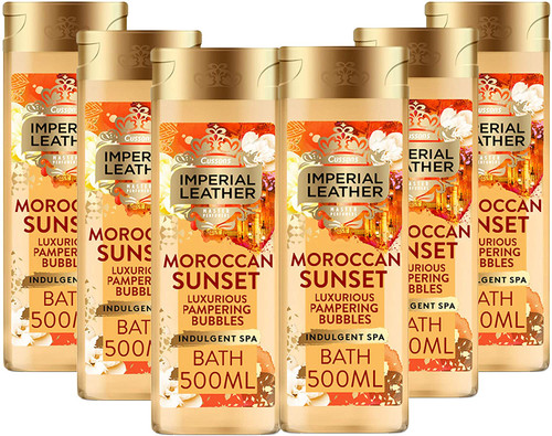 Imperial Leather Moroccan sunset Luxurious Bubbles Bath Cream -Pack of 6