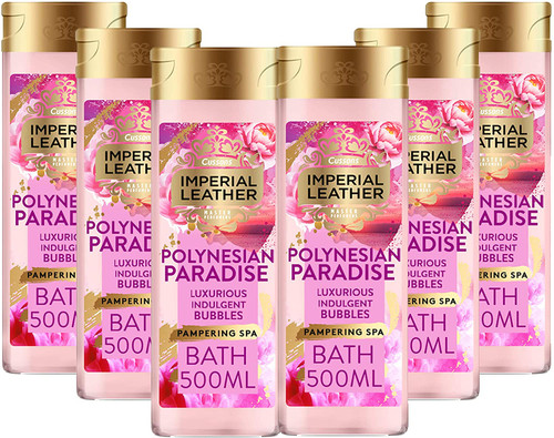 Imperial Leather Polynesian Paradise Luxurious Bubbles Bath Cream -Pack of 6
