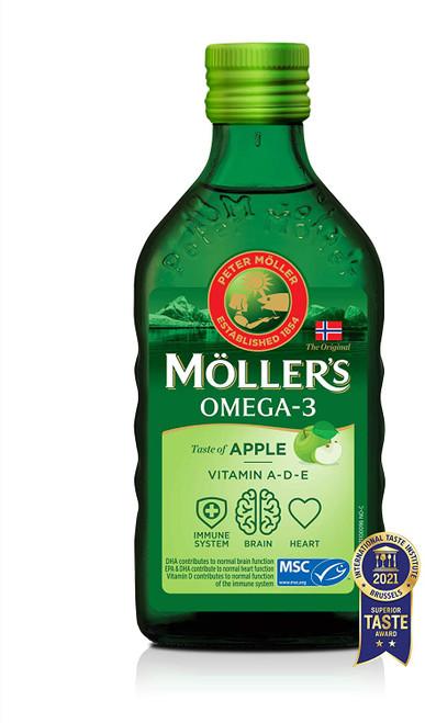 Mollers Omega 3 Taste of Apple Vitamin A D and E Cod Liver Oil - 250 ml