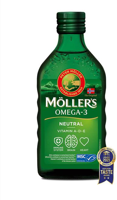 Mollers Omega 3 Neutral Taste Vitamin A D and E Cod Liver Oil - 250 ml