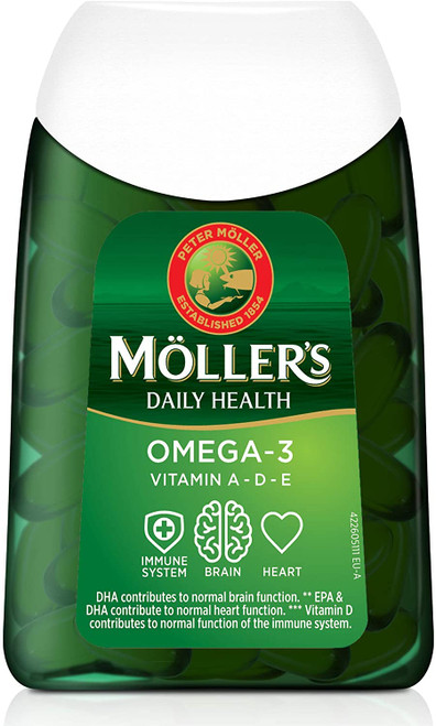 Mollers Omega-3 Fish Oil Capsules with Essential Nutrients - 112 Capsules
