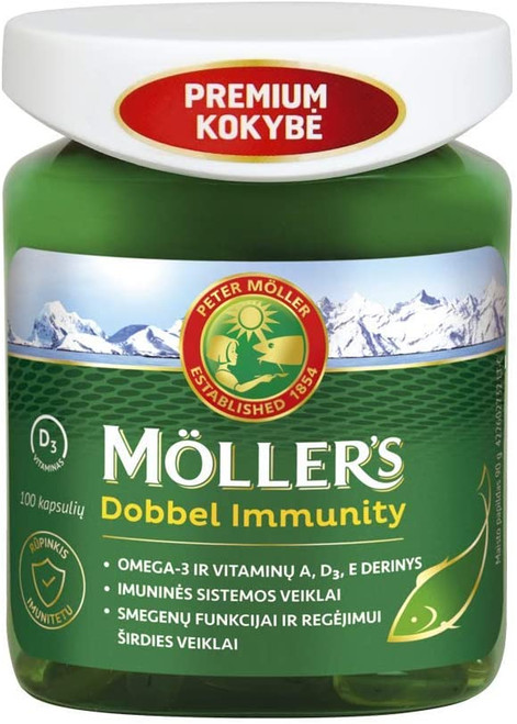 Mollers Dobbel Immunity Omega 3 from Wild Fish Capsules - 100 Capsules