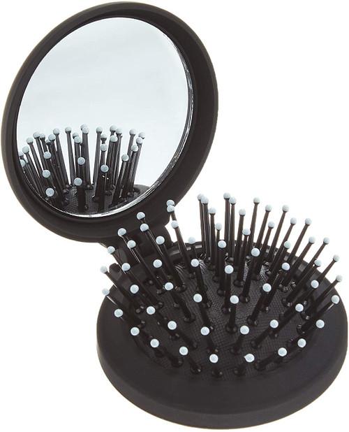 Denman D7 Travel sized Compact Popper Hairbrush - Black