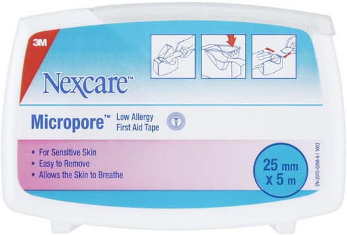 Nexcare Micropore First Aid Tape - 5 m x 25 mm