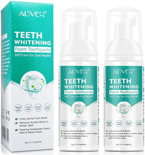 Aliver Teeth Whitening and Cleaning Foam with Baking Soda - 60ml
