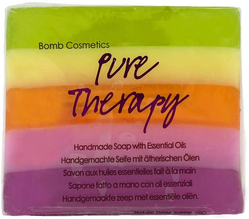 Bomb Cosmetics Pure Therapy Handmade Scented Soap Bar -100 g