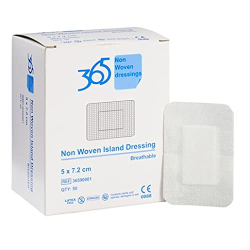365 Non Woven Cloth Wound Dressing 5 x 7.2 cm - Pack of 50