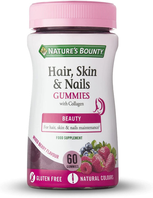 Natures Bounty Mixed Berry Hair Skin and Nails Gummies - 60 Count