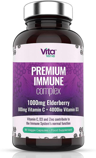 Vita Verve Premium Immune Complex Capsules - 90 Capsules