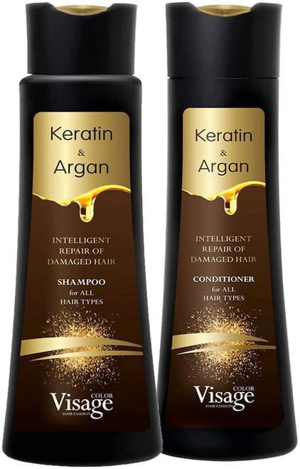 Visage Shampoo Conditioner with Biomimetic Keratin and Argan oil