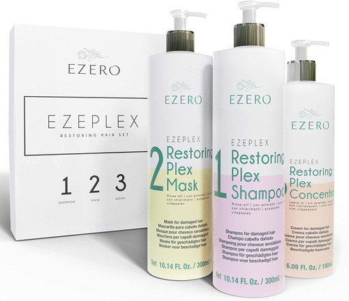 EZERO Shampoo and Conditioner Sets with Mask Plex for Damaged Hair