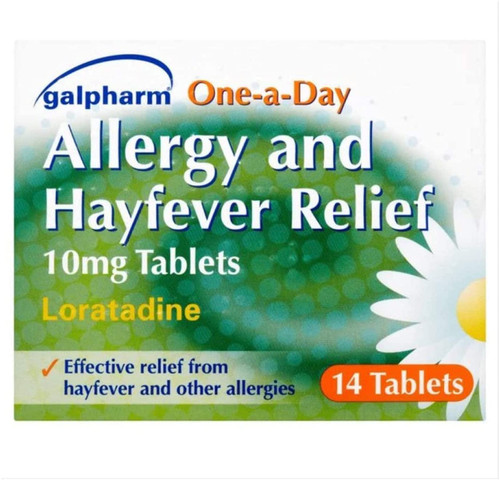 GALPHARM Loratadine Fast Acting Hayfever and Allergy Relief -14 Tablets