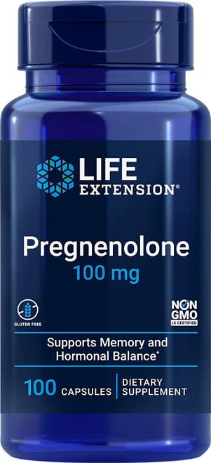 Life Extension Pregnenolone Hormone Levels Balance Capsules -100 Capsules