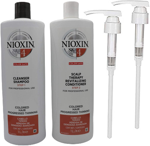 Nioxin 4 Color Safe Cleanser Shampoo and Revitalising Conditioner Set