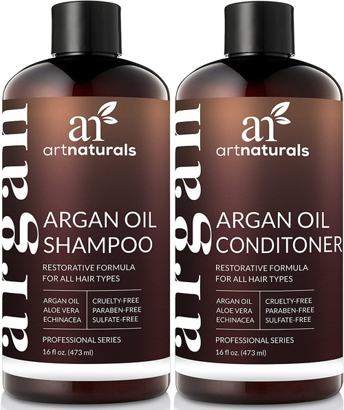 ArtNaturals Argan Oil Restorative Shampoo and Conditioner Set - 2 x 473ml