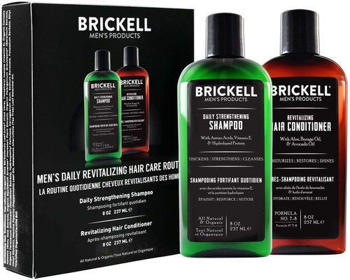 Brickell Men Daily Hair Strengthening Shampoo and Conditioner - 2 x 237ml