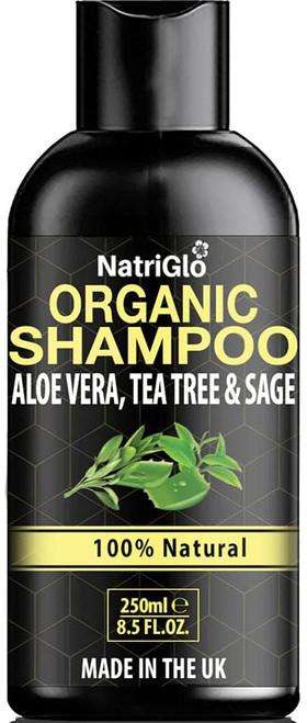 NatriGlo Organic Tea Tree Scalp Soothing Shampoo with Aloe -250ml
