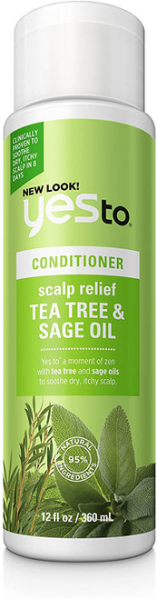 Yes To Naturals Tea Tree and Sage Oil Scalp Relief Conditioner - 360ml