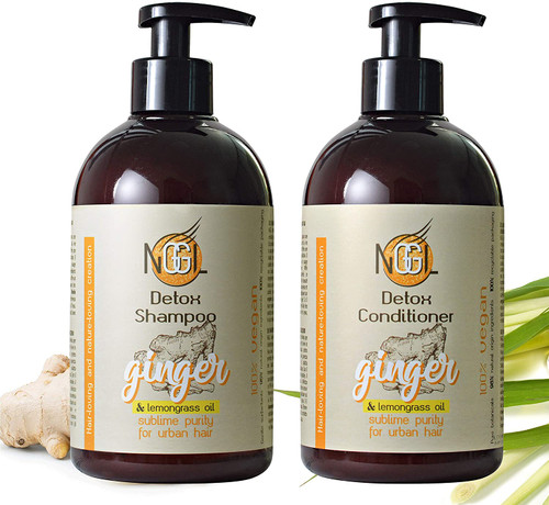 NGGL Ginger Detox Shampoo and Conditioner Twin Pack- 2 x 500ml
