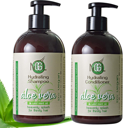 NGGL Aloe and Mint Oil Hydrating Shampoo and Conditioner Twin Set - 2 x 500ml