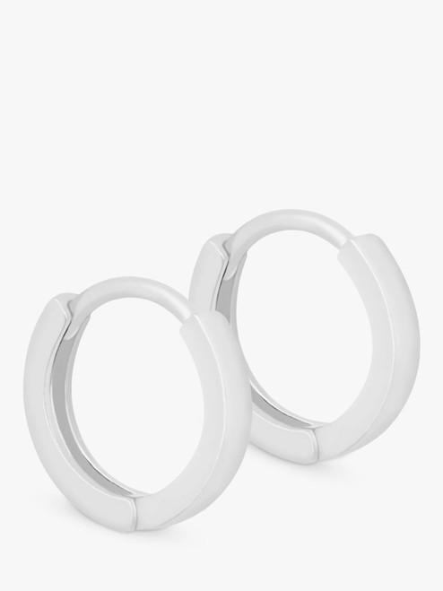 Astrid & Miyu Silver Huggie Hoop Earrings