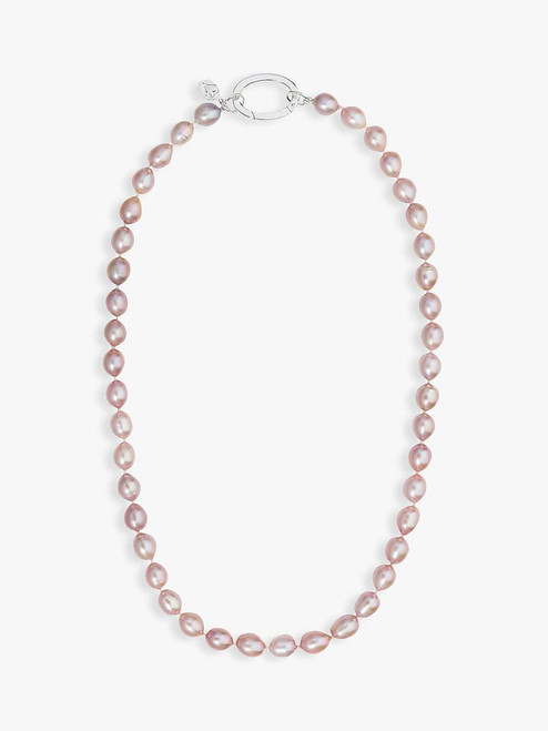 Claudia Bradby Pink Rice Pearl Necklace